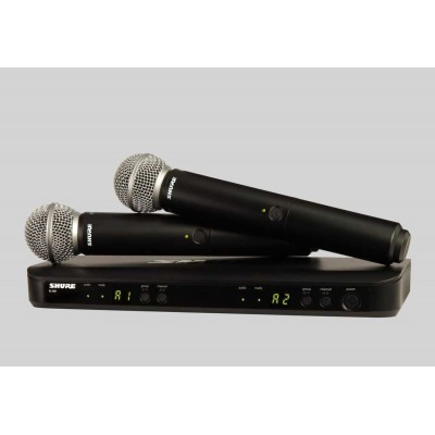 Shure BLX-288/SM58 Dual Channel Handheld Wireless Microphone System