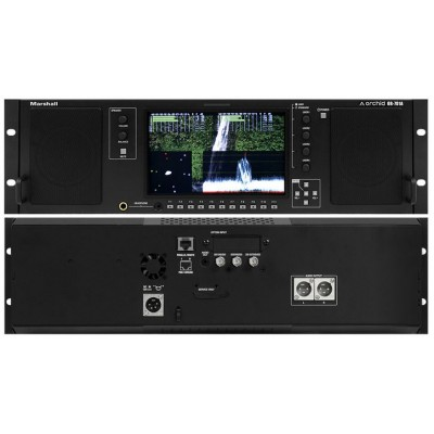 """Marshall Electronics OR-701A High-End 7"""" Dual Input Audio and Video Monitor with Stereo Speakers"""