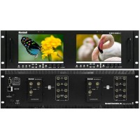"Marshall Electronics V-MD702-HDSDIx2 Dual 7"" 3RU High Resolution Rack Mount Monitor with Two HD-SDI Inputs and Loop-Through"