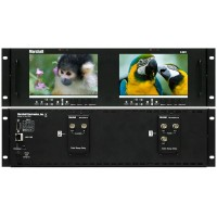 "Marshall Electronics V-MD72 Dual 7"" 3RU High Resolution LCD Rack Mount Monitor with Modular Input and Output"