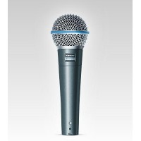 Shure BETA 58A Professional SuperCardioid Dynamic Handheld Wired Vocal Microphone