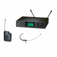 Audio Technica ATW-3192B-TH Omnidirectional Condenser Headworn Wireless Microphone System