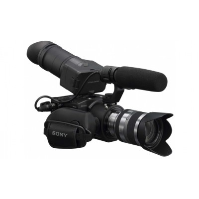 Sony NEX-FS100EK Super 35mm Exmor CMOS Sensor with 11x zoom E-Mount lens NXCAM AVCHD Camcorder Recording Full HD / SD