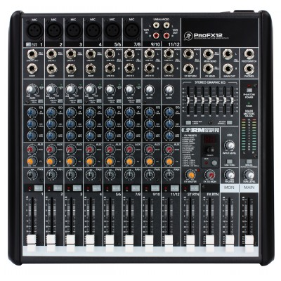 Mackie PROFX12 12 Channel Professional Effect Audio Mixer with USB input