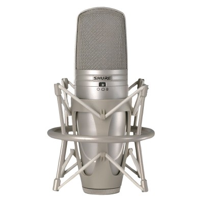 Shure KSM-44 Large Dual Diaphragm Premium Studio Microphone with 3 Adjustable Polar Patterns