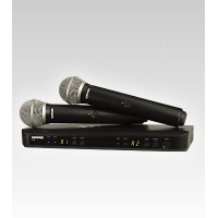Shure BLX288/PG58 Dual Channel Handheld UHF Wireless Microphone System