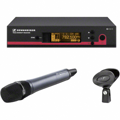 Sennheiser EW-165G3 Top-of-the-line Condenser Microphone Capsule True Diversity UHF Wireless Handheld Microphone System